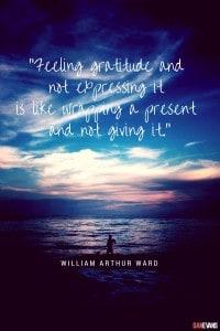 Feeling gratitude
